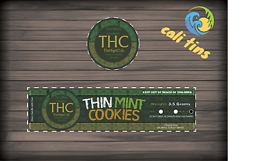 10x The Plug BCN - Thin Mint Cookies 60ml Cali Tin JAR labels