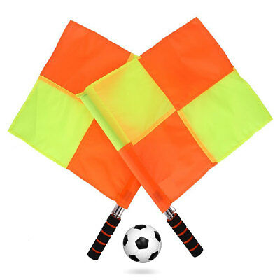 2-Pack Football Linesman Referee Flags With Carrying Bag Waterproof Red/Yellow