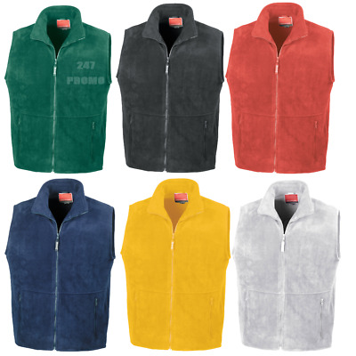 Result Fleece Bodywarmer Gilet Warm Sleeveless Jacket Men's Unisex Hiking Work