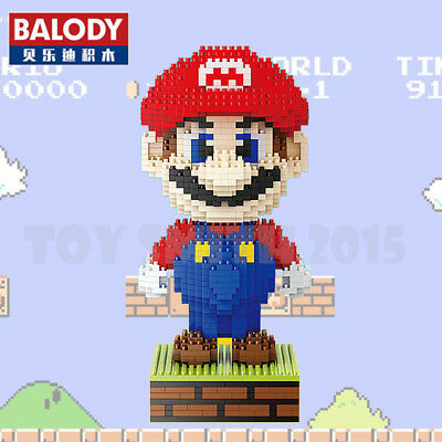 Balody 1700pcs #16022 Super Mario Wario Yellow Diamond Mini Building Nano Block