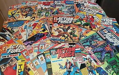 Marvel Action Force Comics. Over 60 Plus A Holiday Special.1987/1988.