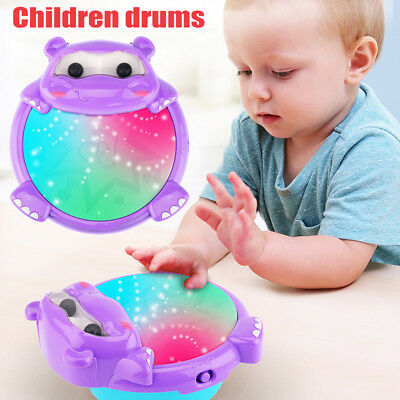 Musical Kids Drum Play Baby Children Colorful Lights Music Educational Toy Gifts