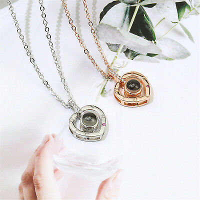 100 Languages Light Projection I Love You Pendant Necklace Lover Necklace TY