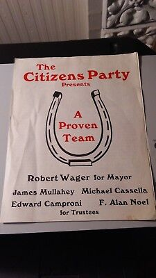 Political Flyer -- Citizens Party -- Cohoes, NY 1982