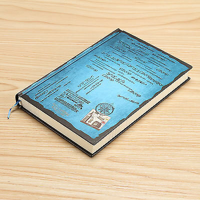 Blue Classic Vintage Notebook Journal Diary Blank Thick Page