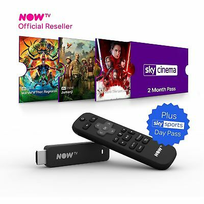 NOW TV Smart Stick - PRE-INSTALLED 2 Month Sky Cinema Pass + Sky Sports Day Pass