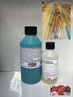 250g MOULDCRAFT ECR TURQUOISE Epoxy Resin Table Top Coating
