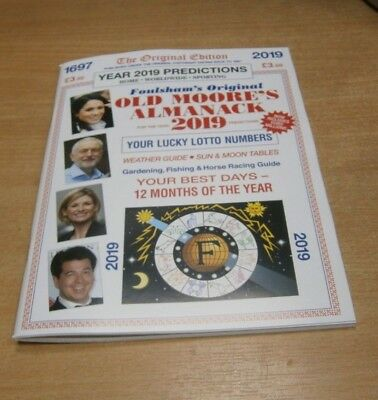 Foulsham's Original Old Moore's Almanack 2019 Year Predictions magazine