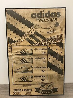 Adidas Vintage Advertisement 1971 RARE! Adidas Superstar!!