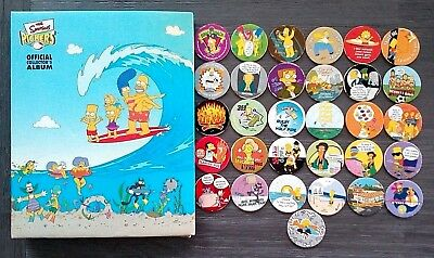 2002 The Simpsons 31 Different Tazos Pickers Plus Official Collector's Album