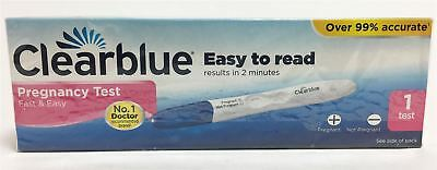 NEW Clearblue Pregnancy Test Fast & Easy to Read Results in 2 Minutes - 1 Test