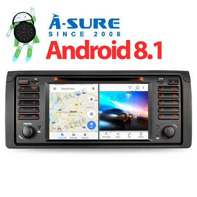 Autoradio Android 8.1 BMW 5er E39 X5 E53 M5 GPS Can Bus DVR/DTV-IN DAB+ CD DVD