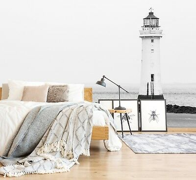 3D Lighthouse Coast Self-adhesive Removable Wallpaper Wall Mural Sticker