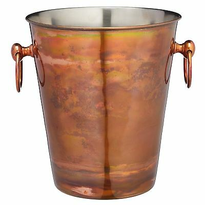 BarCraft Stainless Steel Sparkling Wine Bucket with Iridescent Copper Finish