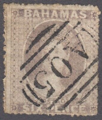 Bahamas 1861-62 6d USED SG 6a Cat £500 ($650)