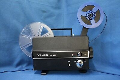 SUPER 8 & STANDARD 8mm SILENT MOVIE PROJECTOR  YELCO MP-290, NEW LAMP  SERVICED