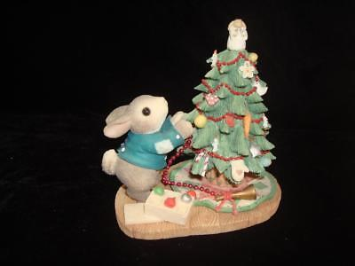 """My Blushing Bunnies~""""Blessings on the Tree for All to See~Bunny w/Tree~w/Box"""