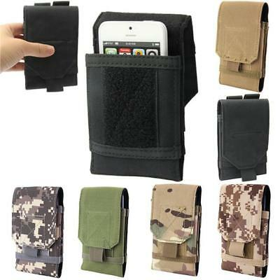 Man Universal Outdoor Army Tactical Mobile Phone Pouch Holster Case Bag Belt N7