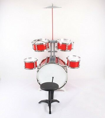 Kids Children Drum Kit Play Set Drums Musical Toy Instrument Pedal Stool