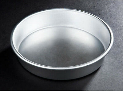 "12 PACK 8"" x 1.5"" Round Tapered Aluminum Cake Pie Pan Deep Dish Pizza Commercial"