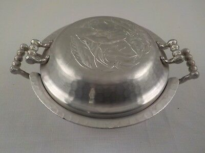 Vintage Everlast Hammered Hand Forged Aluminum Casserole Serving Bowl with Lid