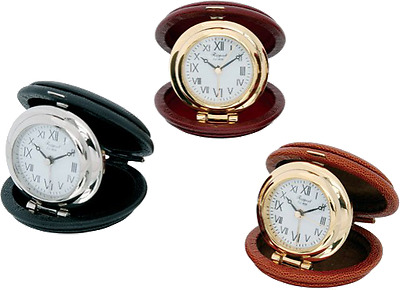 Alarm Clock / clock travel Rapport OYSTER, case leather tough/rigid - NEW