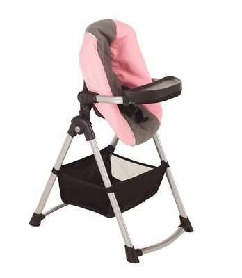 Silver Cross Simplicity 4 in 1 Dolls High Chair - Vintage Pink Fabric