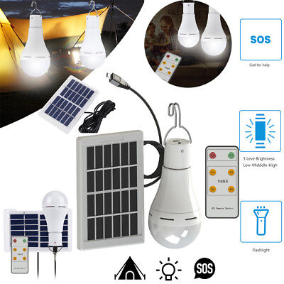 20 COB Solar Power LED Bulb Light with 5 Modes Indoor/Outdoor Camping Tent Lamp