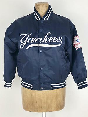 New York Yankees 'Majestic Authentic Collection' Boy or Girls Blue Satin Jacket