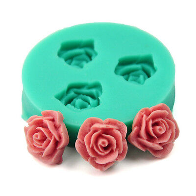 Mini Rose Flower Silicone Fondant Mold Cake Decoration Tools DIY Chocolate Mould