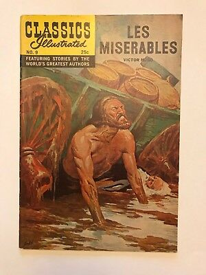 Classics Illustrated #9 Les Miserables by Victor Hugo HRN 166