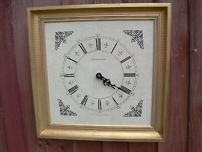 Vintage Wall Mounted Clock Golden Frame German Movement