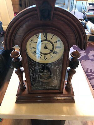 Vintage ansonia wall clock pendulum striking serviced