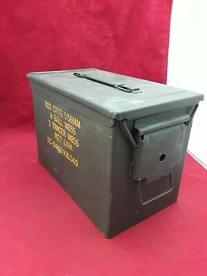 MILITARY SAW Ammo Can PA108 Green Ammunition Tin Box