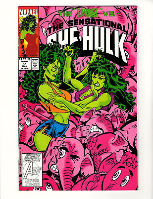 The Sensational She-Hulk #51 (1993 Marvel) NM/NM+ Savage vs Sensational She-Hulk