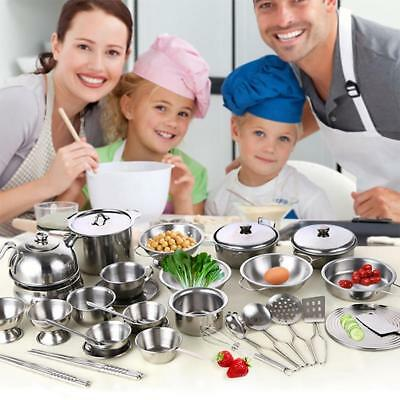 16PCS Kids Children Play toys Kitchen Utensils Cooking Dishes Cookware Sets