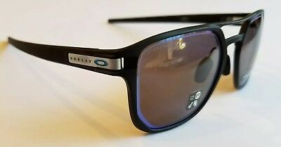 1c38855739 New 2018 Oakley Latch Alpha Sunglasses Matte Black   Prizm Gray Blue  Outline USA