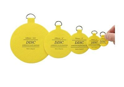 Original Invisible Self Adhesive Disc Plate Plaque Picture Hanger ~ 5 Sizes