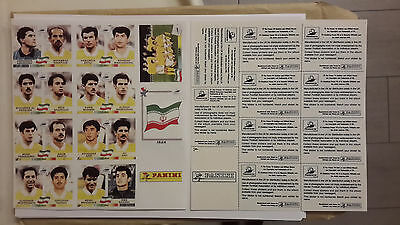 panini france 98 stickers  iran equipe team foot world cup 1998 soccer bien lire