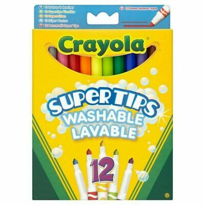140 X Crayola Set Washable Kids Colouring Markers Bright Felts Crayons Supertips
