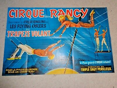 1971 affiche CIRQUE SABINE RANCY flying osler circus circo plakat poster cartel