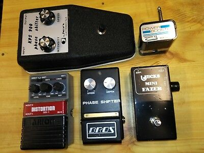 Phase Shifter KPS900 Elettronica + Bros + Power Booster Maxon Vintage for Guitar