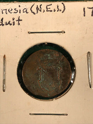 1754 Indonesia Netherlands East Indies 1/2 Duit