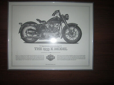 Harley-Davidson 1953 K Model Cornerstone Collection Print FRAMED
