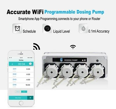 Coral Box Wifi 4 Channel Dosing Pump, App Controllable Dosing Unit, UK Stockist