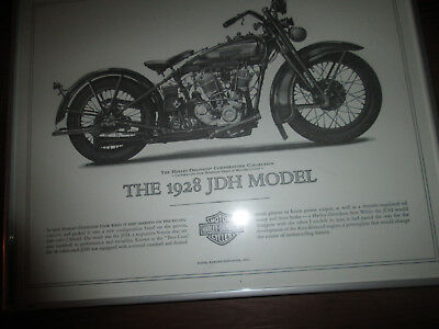 Harley-Davidson 1928 JDH Model Cornerstone Collection Print FRAMED