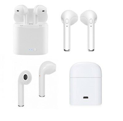 Bluetooth Dual Wireless i7S TWS Earbud Headphones with Charging Box in White Lot