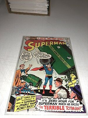 Superman #182 - 1st Silver Age App Toy-Man Very Glossy! - 1966 FN/VF