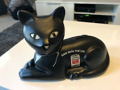 Save With The Cat- Black Cat Figurine- Eveready Battery-halloween