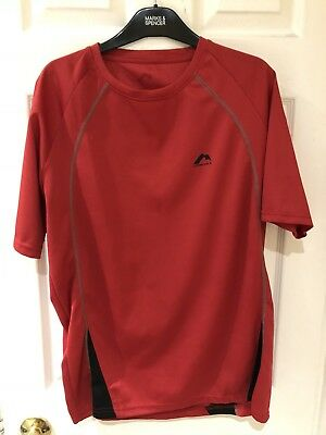 More Mile Palermo Mens Running Gym Exercise T-Shirt Tee Top Size XL Colour Red.